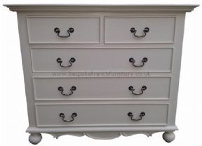 Sandrine 5 Drawer 100cm French Chest in your choice of colour